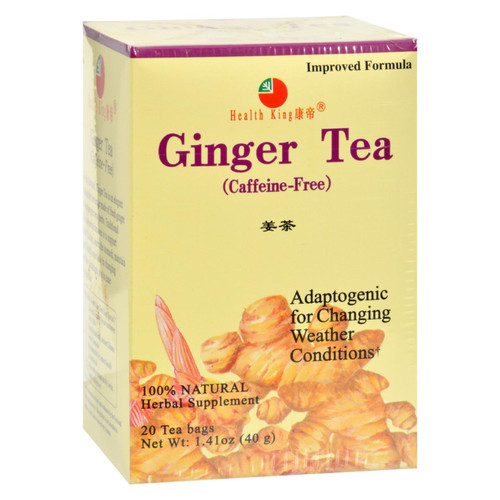 Health King Medicinal Teas Ginger Herb Tea - Caffeine Free - 20 Tea Bags