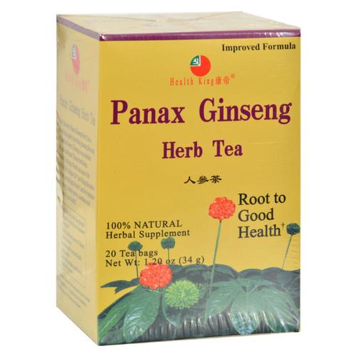 Health King Medicinal Teas Panax Ginseng Herb Tea - 20 Tea Bags