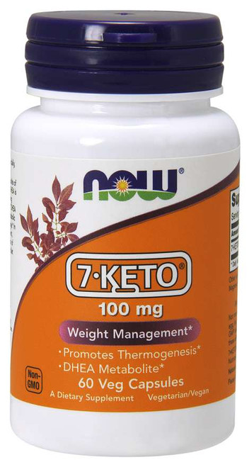 7-KETO 100mg by NOW 60 Veg Capsules
