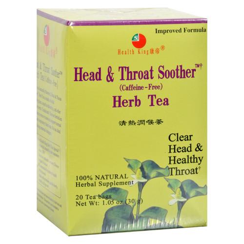 Health King Head And Throat Soother Herb Tea - 20 Tea Bags
