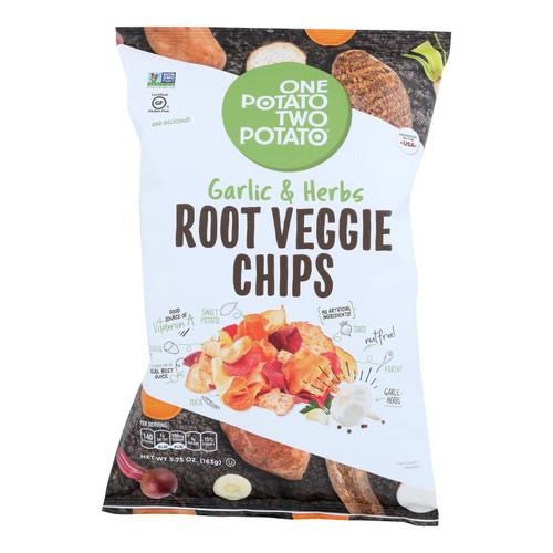 One Potato Two Potato - Root Veg Chip Grlc&hrb - Case Of 12 - 5.75 Oz
