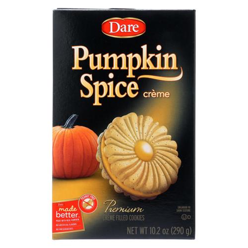 Dare Cookies - Pumpkin Spice Crème - Case Of 12 - 10.2 Oz.