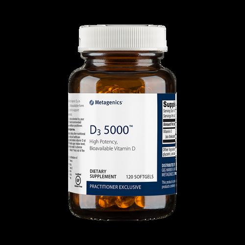 D3 5000 IU by Metagenics 120 softgels