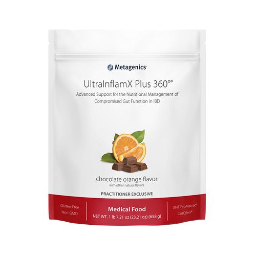UltraInflamX Plus 360 Chocolate Orange by Metagenics 23.21 oz 14 servings