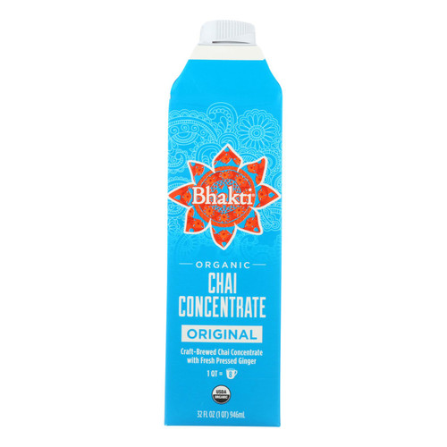 Bhakti Chai Concentrate  - Case Of 6 - 32 Fz