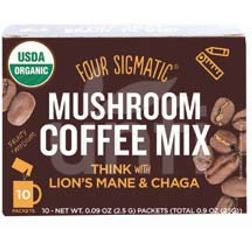 Four Sigmatic - Mushroom Coffee - Lion's Mane And Chaga - 10 Count x 2 - Double Pack - 20 Count Total