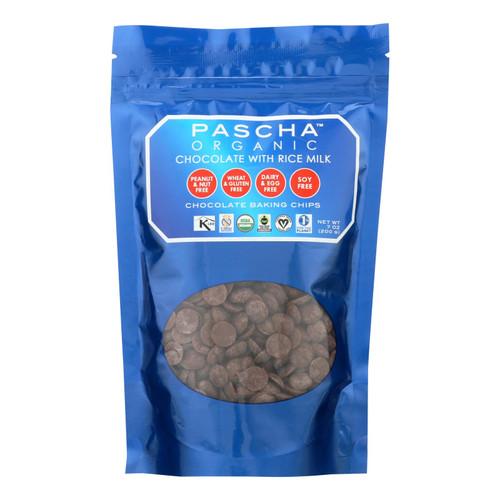 Pascha Organic Rice Milk Chocolate Baking Chips - Chocolate - Case Of 8 - 7 Oz