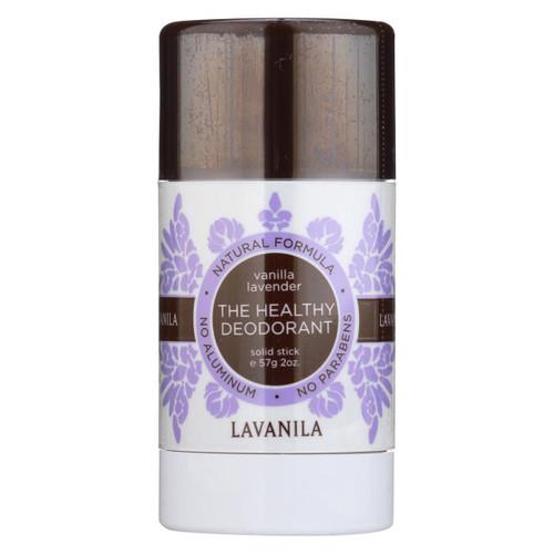 Lavanila Natural Aluminum-Free Deodorant The Healthy Deodorant Vanilla Lavender Scent 2 oz (2 Pack) Free Shipping No Tax