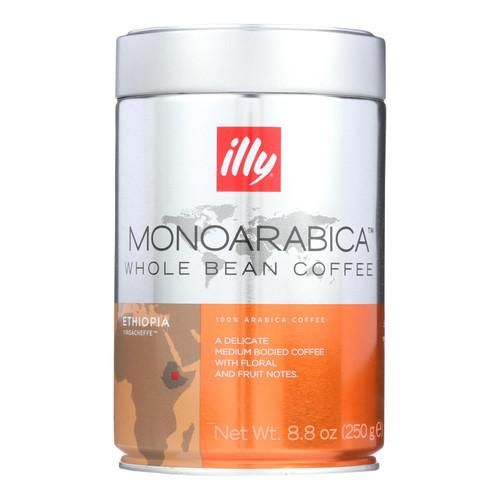 Illy Monoarabica Ethiopian Whole Bean Coffee  - Case Of 6 - 8.80 Oz