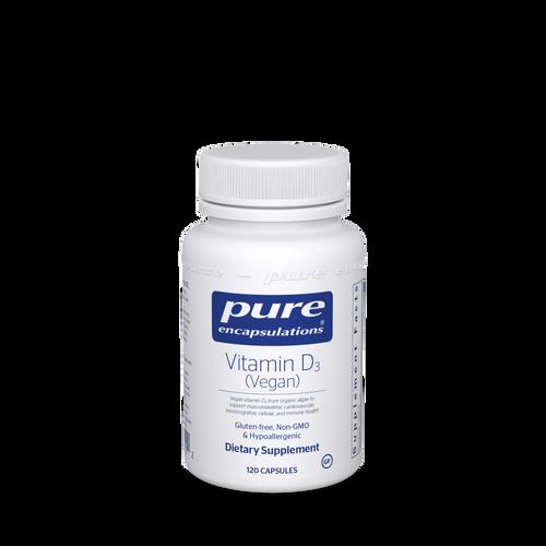 Vitamin D3  (Vegan) by Pure Encapsulations 120 capsules