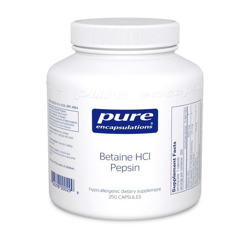 Betaine HCl Pepsin by Pure Encapsulations 250 capsules