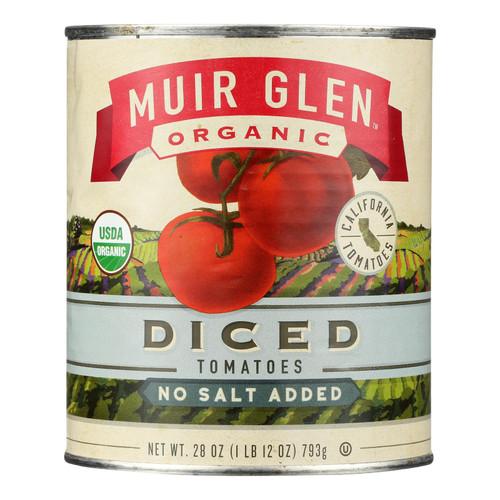 Muir Glen Organic Tomatoes - Diced - No Salt - Case Of 12 - 28 Oz