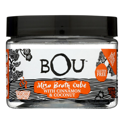 Bou - Miso Broth Cubes - Cinnamon And Coconut - Case Of 6 - 2.53 Oz.