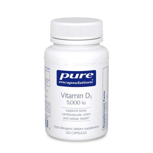 Vitamin D3 5000 IU by Pure Encapsulations 120 capsules