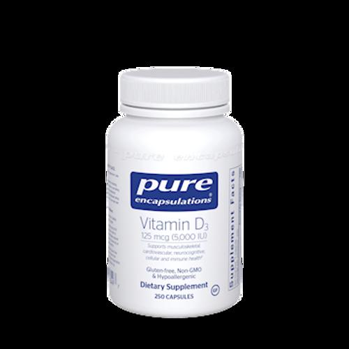 Vitamin D3 5000 IU by Pure Encapsulations 250 capsules