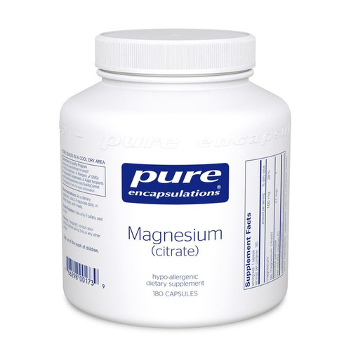 Magnesium (citrate) 150mg by Pure Encapsulations 180 capsules