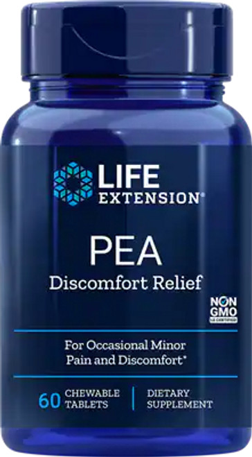 PEA Discomfort Relief by Life Extension 60 Chewable Tablets