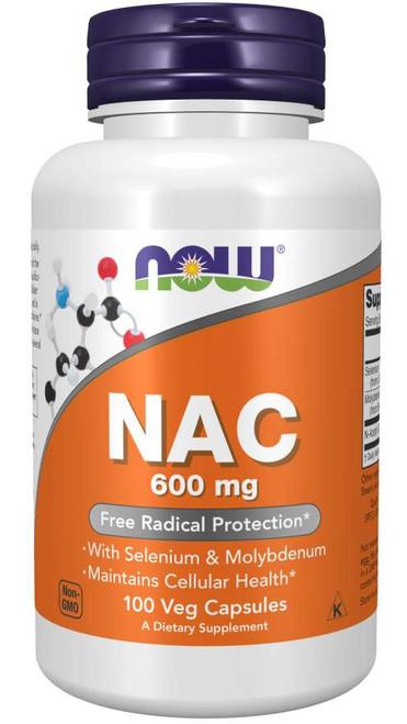 N-Acetyl Cysteine (NAC) 600mg by NOW 100 Veg Capsules