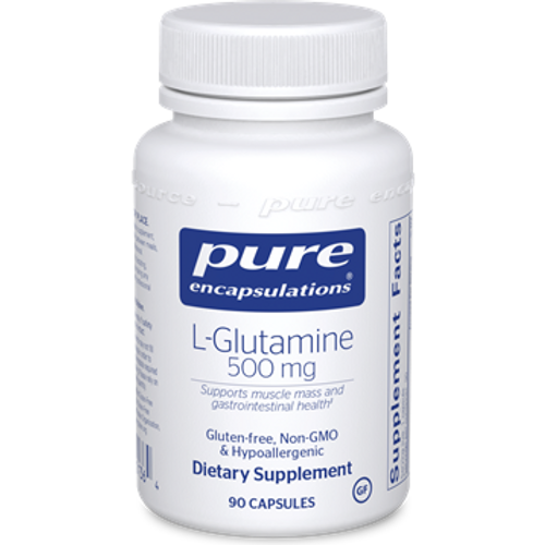 L-Glutamine 500mg by Pure Encapsulations 90 capsules