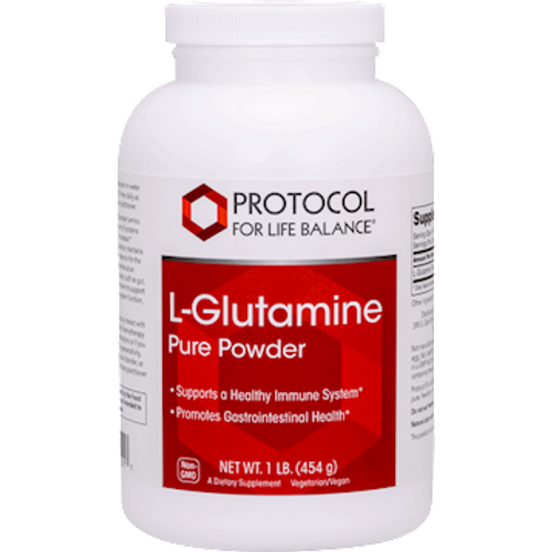 L-Glutamine Powder by Protocol For Life Balance 1lb 454 grams