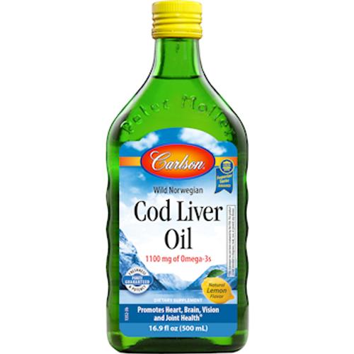 Cod Liver Oil Lemon by Carlson Labs 16.9 oz