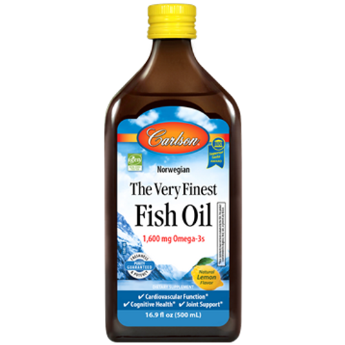 The Very Finest Fish Oil Natural Lemon Flavor by Carlson Labs 16.9 oz