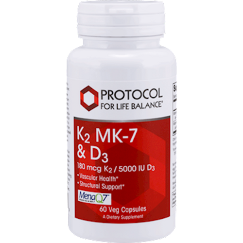 K2 MK-7 & D3 by Protocol For Life Balance 60 capsules