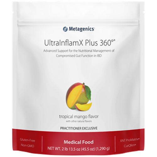 UltraInflamX Plus 360 Tropical Mango by Metagenics 45.5 oz 30 servings
