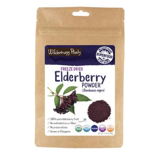 Wilderness Poets - Organic Elderberry Powder - Freeze-Dried - Case of 6 - 3.5 oz