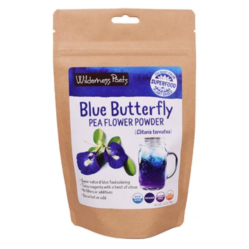 Wilderness Poets - Blue Butterfly Pea Flower Powder - Case of 6 - 3.5 oz