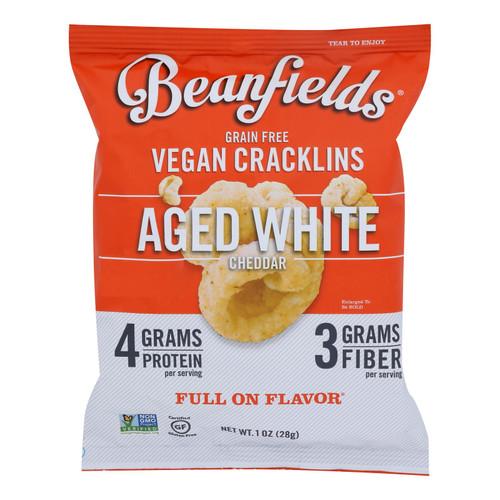 Beanfields - Vegan Cracklins Aged White Cheddar - Case Of 24 - 1 Oz
