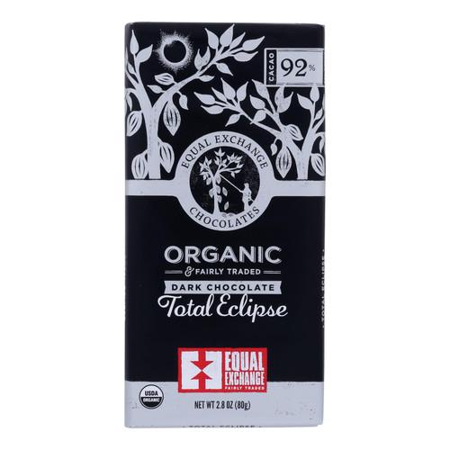 Equal Exchange - Bar Dark Chocolate 92% - Case Of 12 - 2.8 Oz