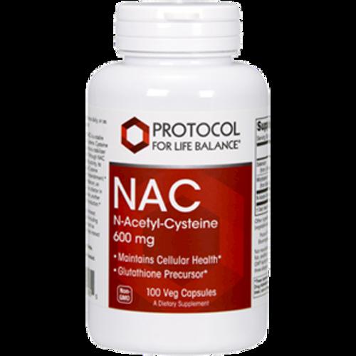 NAC 600mg by Protocol For Life Balance 100 capsules