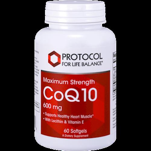 CoQ10 600mg by Protocol For Life Balance 60 softgels