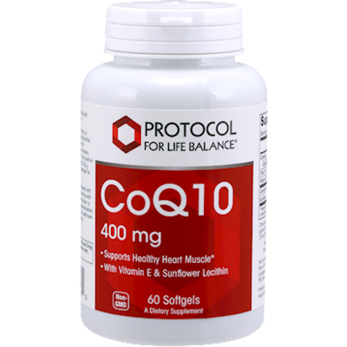 CoQ10 400mg by Protocol For Life Balance 60 softgels