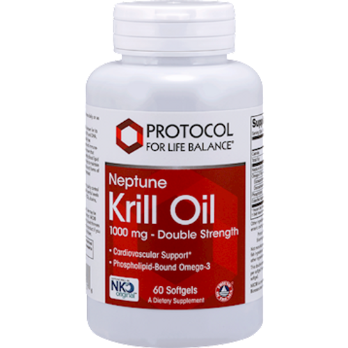 Neptune Krill Oil 1000mg by Protocol For Life Balance 60 softgels
