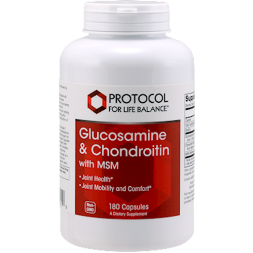 Glucosamine & Chondroitin with MSM by Protocol For Life Balance 180 capsules