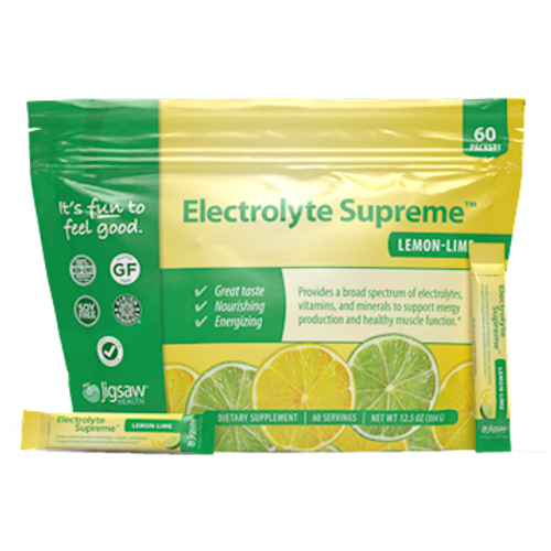 Electrolyte Supreme Lemon Lime Packets by Jigsaw Health 60 packets