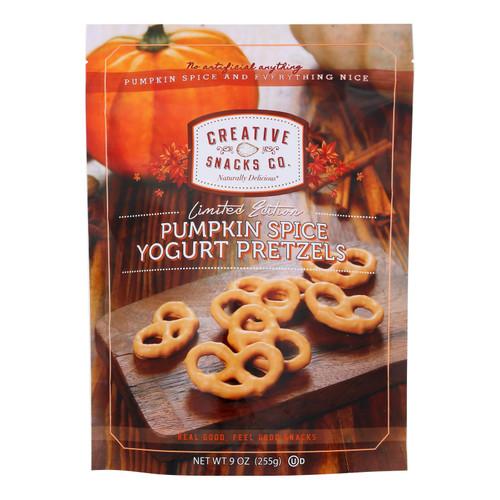 Creative Snacks - Pretzels Pmpkn Spice Yog - Cs Of 12-9 Oz