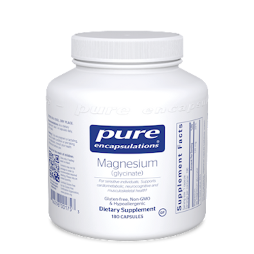 Magnesium (glycinate) 120mg by Pure Encapsulations 180 capsules