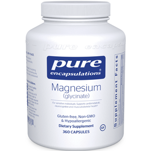 Magnesium (glycinate) 120mg by Pure Encapsulations 360 capsules