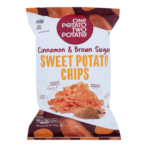 One Potato Two Potato - Sweet Pot Chip Cinn&brn Sug - Case Of 12 - 5.75 Oz