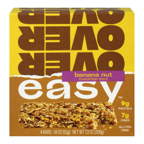 Over Easy - Breakfast Bar Banana Nut - Case Of 6-4/1.8 Oz