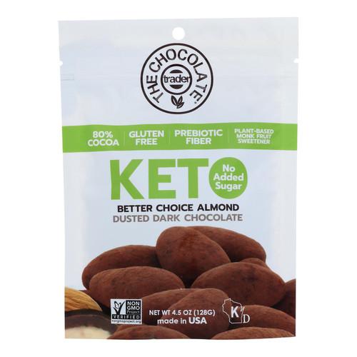 The Chocolate Trader - Keto Snks Chocolate Dstd Almnd - Case Of 6-4.5 Oz