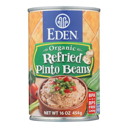 Eden Organic Refried Pinto Beans  - Case Of 12 - 16 Oz