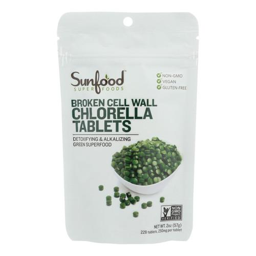 Sunfood Superfoods Chlorella Tablets  - 1 Each - 2 Oz