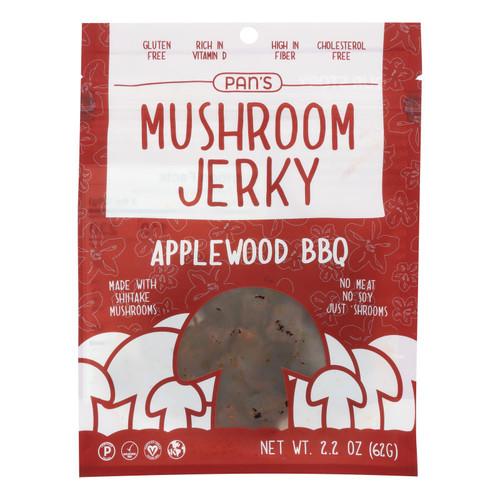 Pan's - Mushroom Jerky Aplwd Bbq - Case Of 6-2.2 Oz