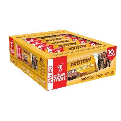 Caveman Foods Paleo Protein Bar Chocolate Salted Caramel - Gluten Free