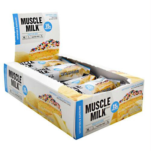 Cytosport Muscle Milk Protein Bars Birthday Cake