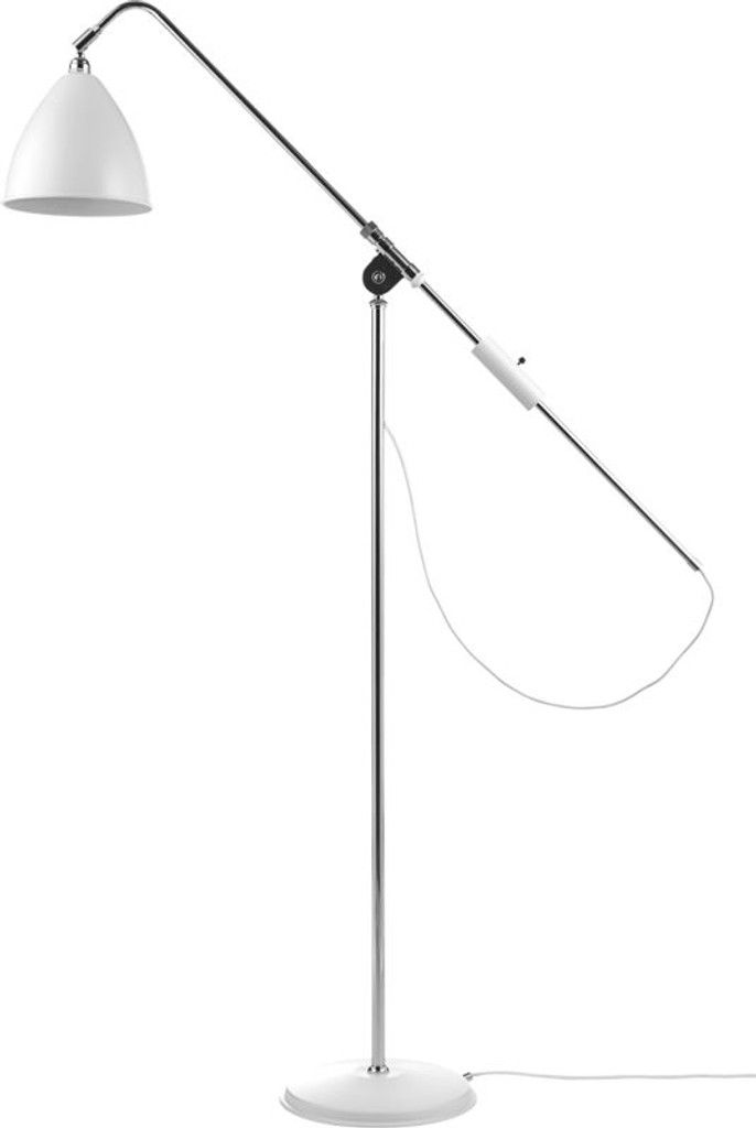 GUBI -  BL4 FLOOR LAMP MEDIUM CHROME BASE ( VARIOUS COLOURS)